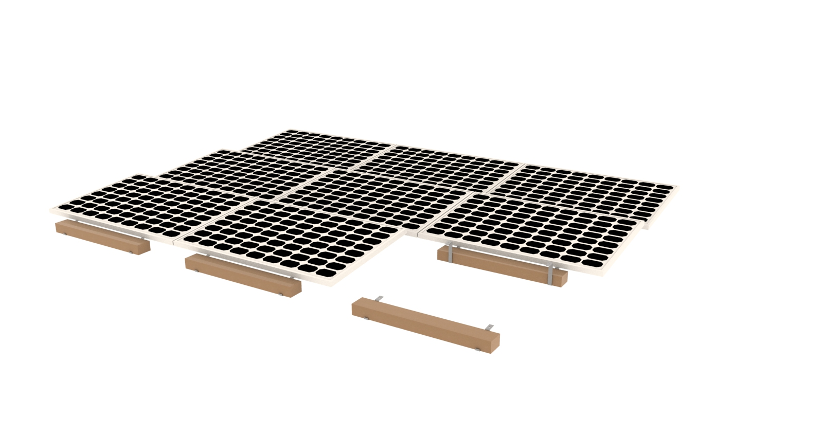 Ballasted Flat Roof Racking