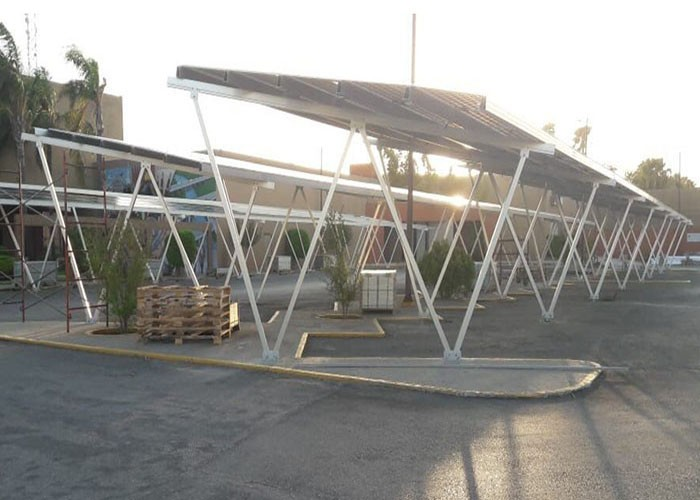229KW carport structure project installed in Puebla, Mexico