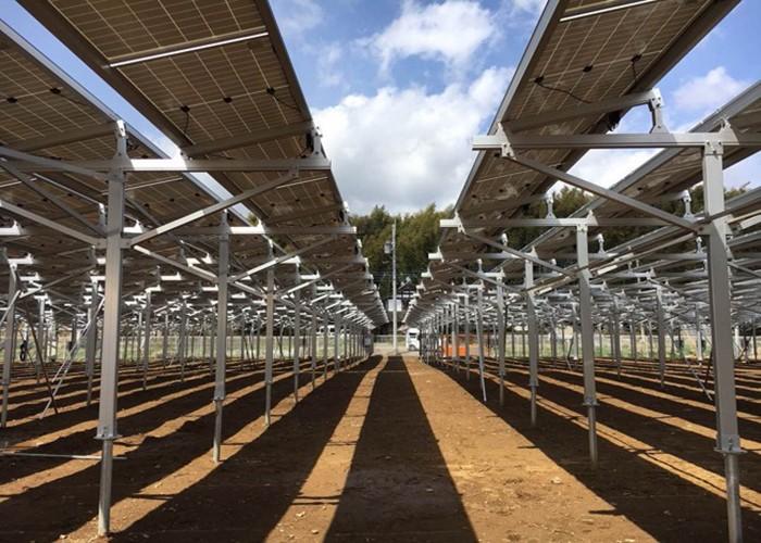 Estructura de granja solar MG Solar de 2.8 MW en Japón