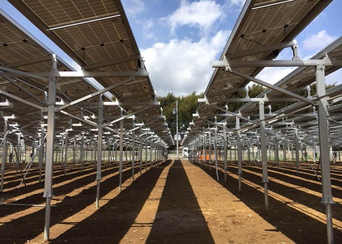 MG Solar 2.8 MW هيكل مزرعة للطاقة الشمسية في اليابان