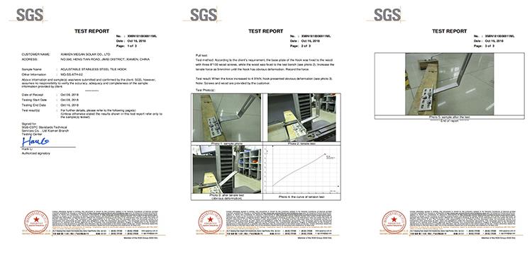 Solar Racking Adjustable S-tile Hook