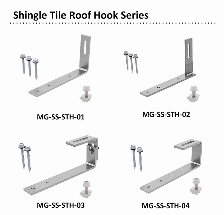 solar pv stainless steel roof hook