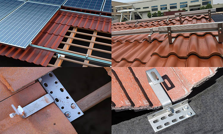 roof hook solar panel mounting