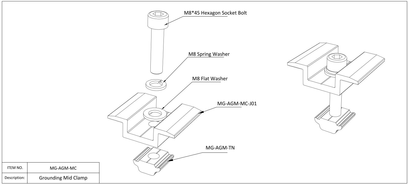hardware di montaggio del pannello solare