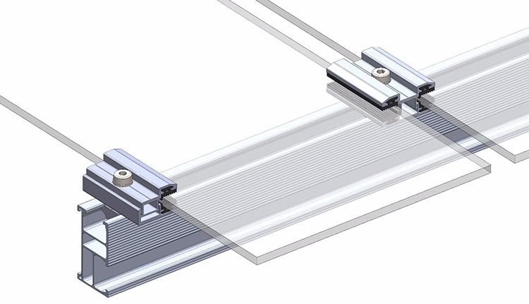 Morsetti terminali a film sottile per racking solare