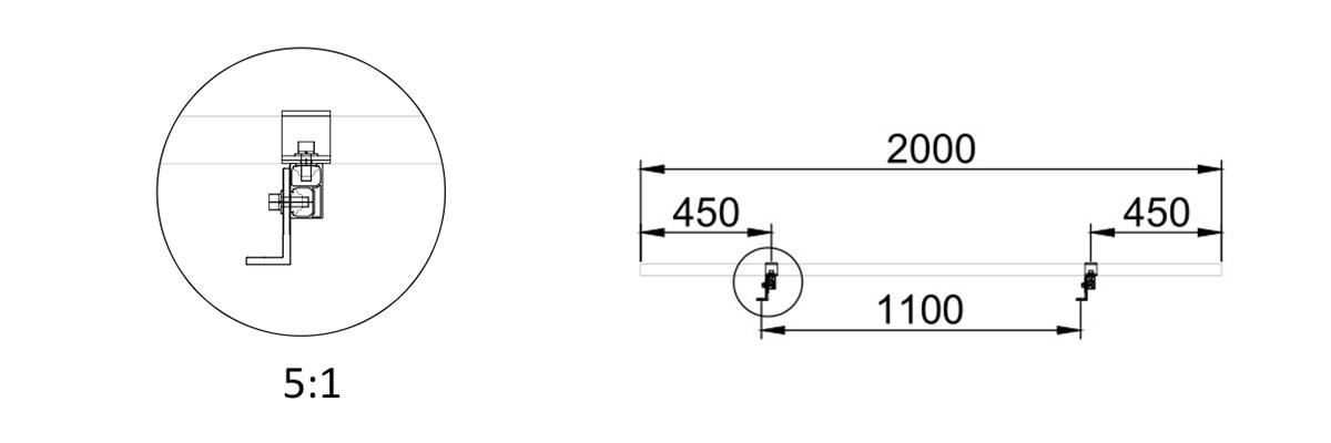solar l foot bracket