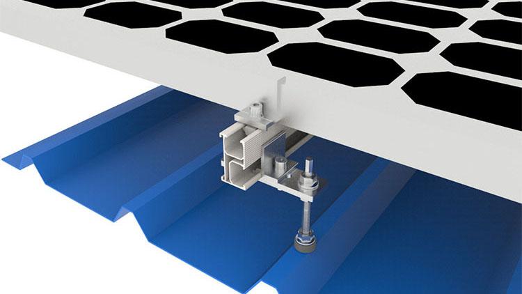 Supporto per bullone appendiabiti a cremagliera solare