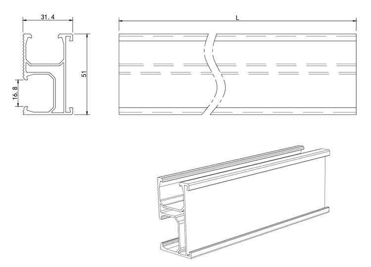 Solar Mounting Rail