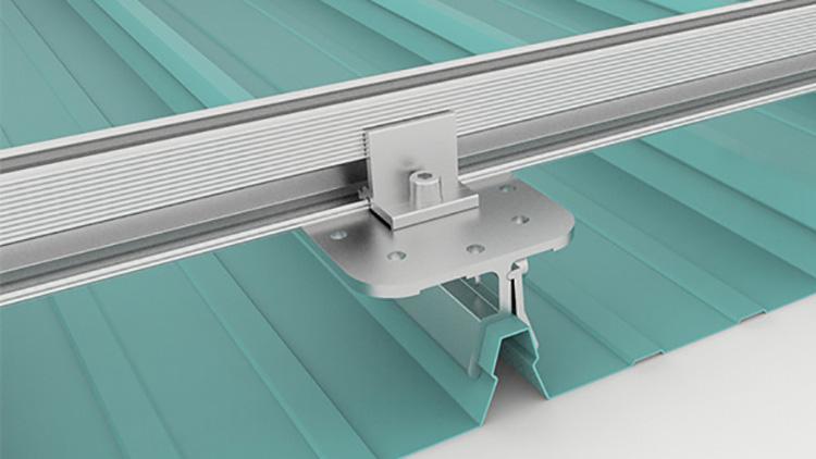 morsetto di montaggio solare per tetto in metallo