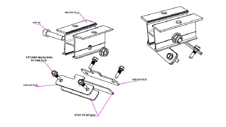 montaggio a morsetto solare