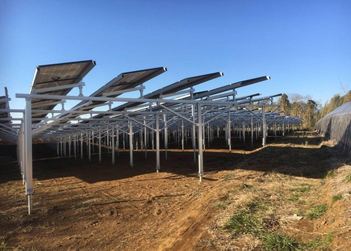 3MW Solar Farm Racking Structure Finished in Mexico