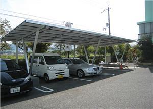Estructura de estantería para cochera solar de 150KW terminada en Japón