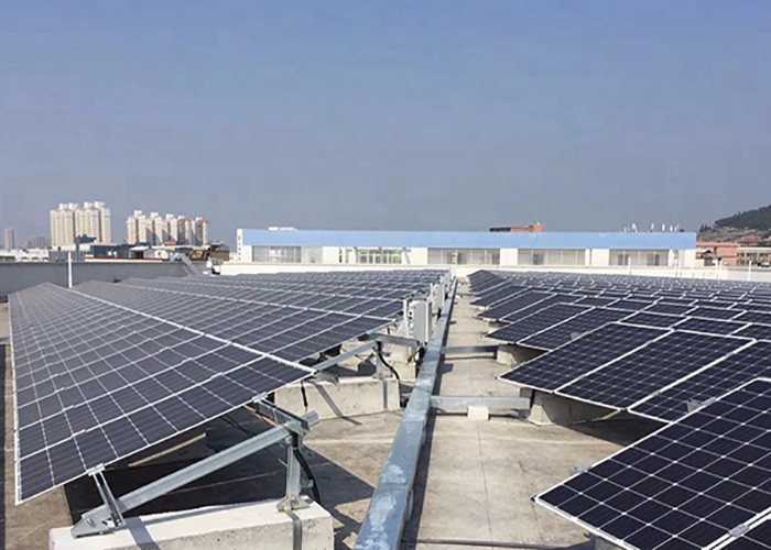 100KW Solar Flat Roof Mount System Finished in Mexico