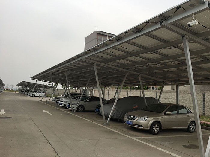 150KW Solar Carport Racking Structure In China