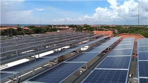 300KW Flat Roof Solar Panel Mounting Structure In Mexico