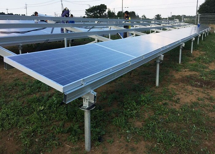 20 KW Aluminum Solar Ground Racking Structure Finished In Vietnam