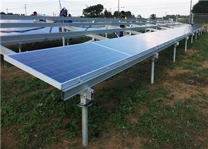 Struttura di scaffalatura a terra solare in alluminio da 20 KW finita in Vietnam