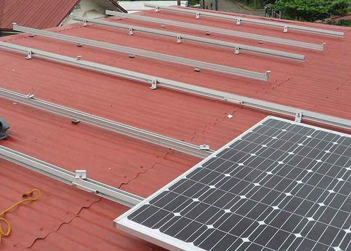 10 KW Metal Roof Solar Racking Structure In India