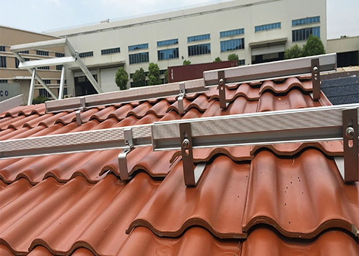 500kw Solar Tile Roof Racking System in Indonesia