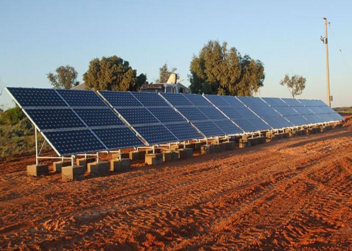 100KW Galvanized Solar Ground Racking Bracket In Spain