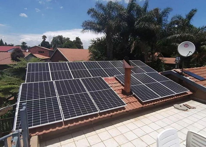 200KW Solar Tile Roof Racking System In Spain