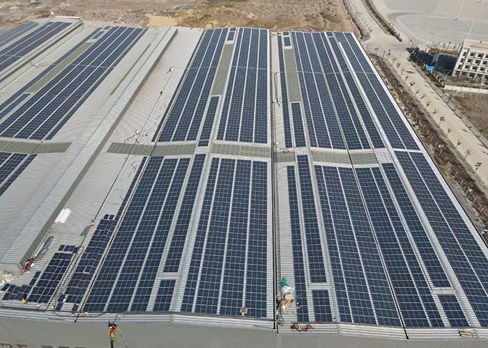 Sistema de montagem solar plano de 3000KW concluído na Indonésia
