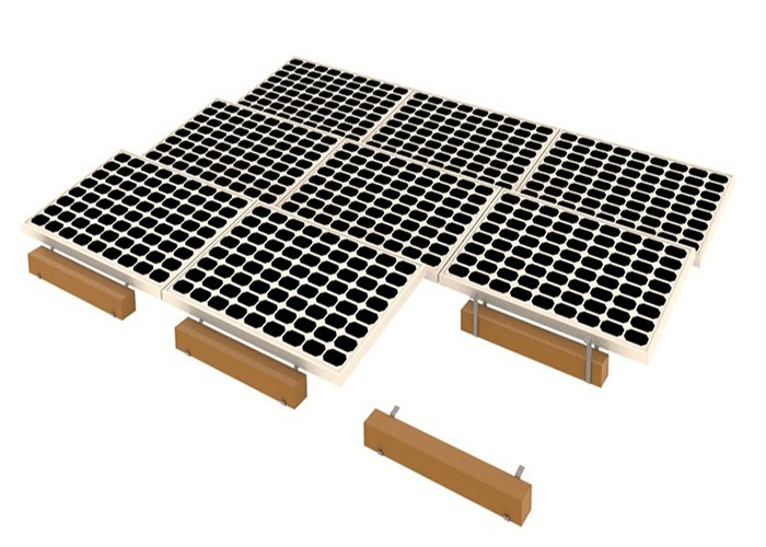 MG Solar Stainless Steel Ballasted Flat Roof Racking System