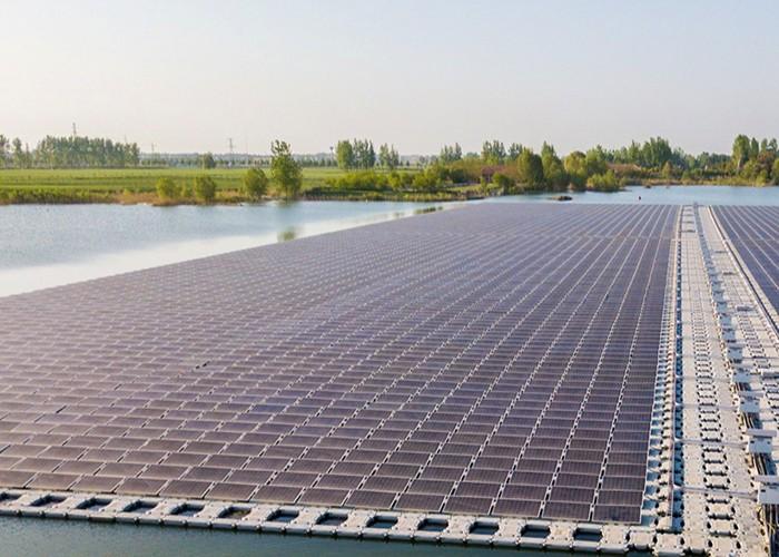Sistema de estrutura de montagem solar flutuante de 1500KW na Espanha