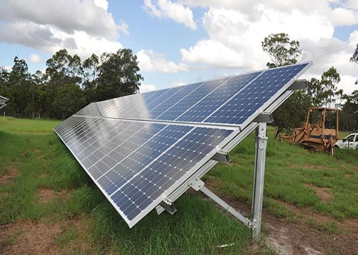 Estrutura de estantes solares de 800 kW na Espanha