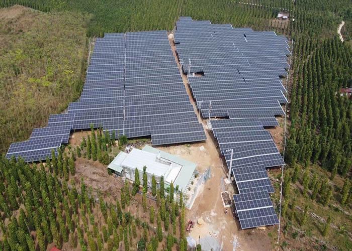 3000KW Galvanized Solar Ground Racking Structure In Japan