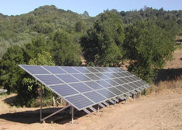 스페인 500KW 태양 아연 도금 그라운드 마운트 시스템
