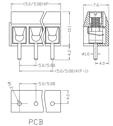 XY301VA-5.0 XY301VB-5.08