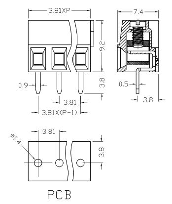 XY303V-3.81