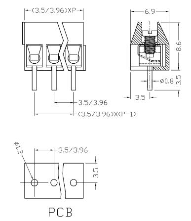 XY636-6.35/7.62/9.52