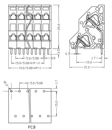 XY112A-5.0 XY112B-5.08