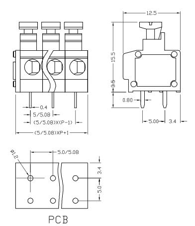 XY119A-5.0 XY119B-5.08