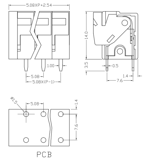 XY122V-5.08