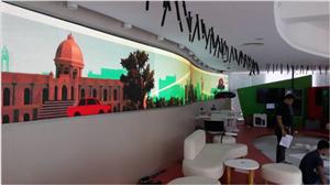 P3 indoor fixed led display installation in Bangladesh