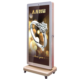 2018 hot selling totems led screen with standing wheels