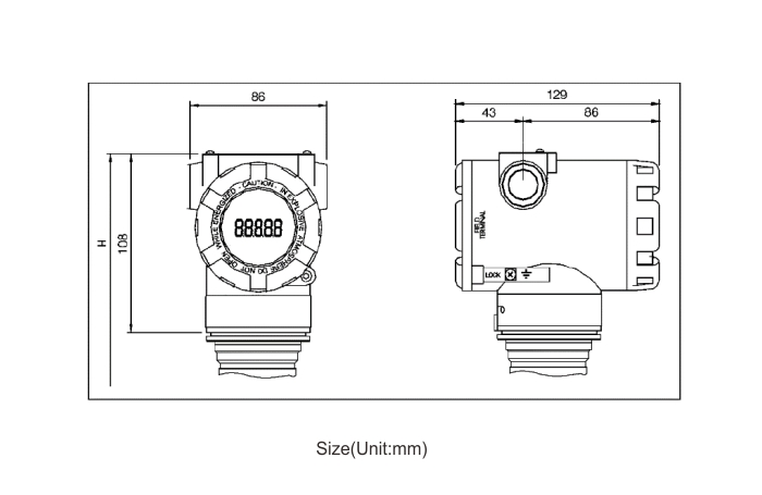 Piezoresistance Silicon Pressure Transmitter