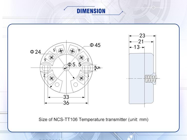 temperature indicator transmitter
