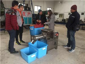 Ordered machine- Poultry Deboner TLY300 for Philippines customer