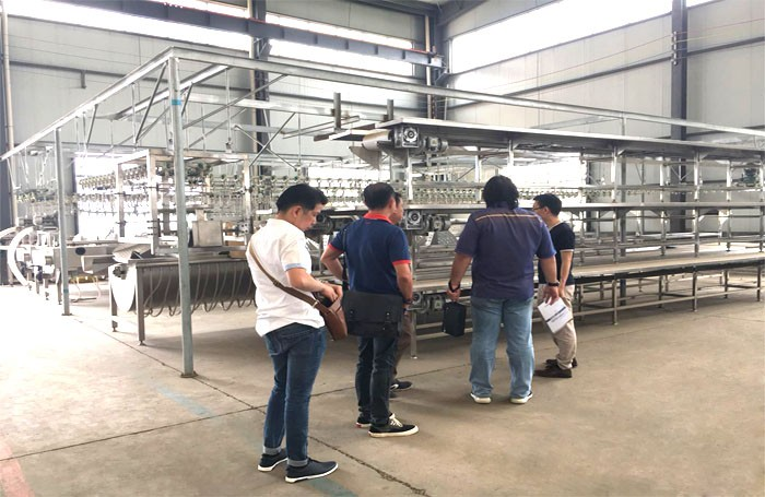 Indonesian customers come to visit OsaintGroup and order slaughter line equipment