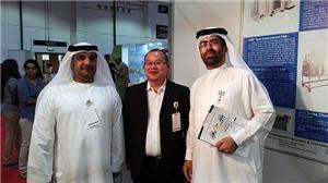 business talk with Arabian customer