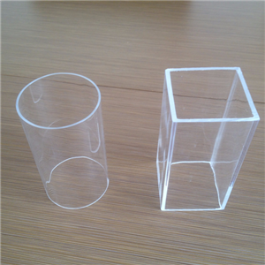 Cast and extruded clear acrylic tubes