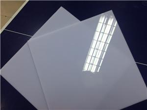 transparent and white polystirene sheet to insteat of acrylic sheet