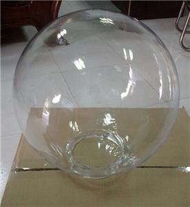Clear acrylic globes covers light