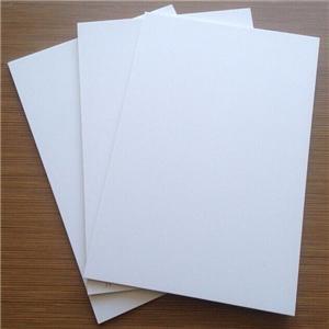 White plastic pvc board