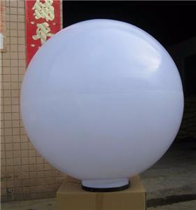 250mm dia white acrylic ball