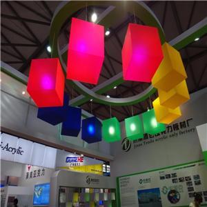 OEM super slim hanging acrylic crystal led light box
